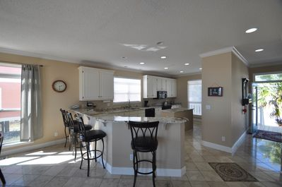 The kitchen is ready for entertaining.