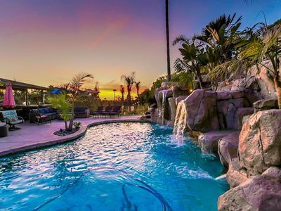 Photo for Ocean-View Estate w/ Heated Waterfall Pool, Hot Tub, Casita & Outdoor Kitchen