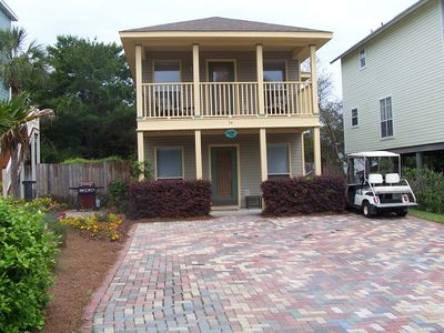 Photo for LABOR DAY 2/2.5 Pet Friendly Beach Cottage w/ Fenced Yard-500 yards to beach