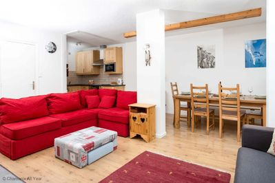 Plenty of space for everyone in the open plan living area