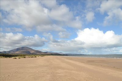 local beach with Brandon Mountain in the backround