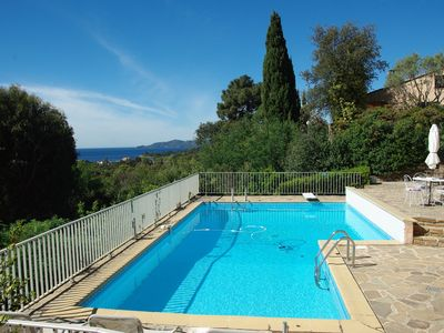 Photo for Lovely villa with sea and hills views, pool, terraces