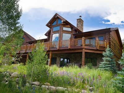 Photo for Stunning 5 Bedroom Custom Log Home steps from Frisco`s Reserve!