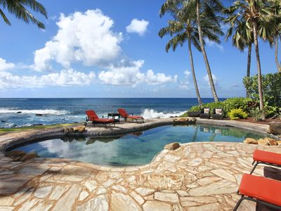 Photo for Kauai Kai: Oceanfront Privacy in Poipu with AC and Private Pool!