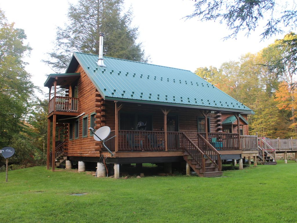 New Log Cabin On Two Picturesque Trout Streams