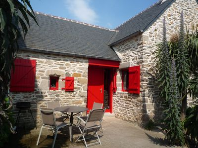 Photo for Typical Breton house at 0.50m from the sea view beach and Batz upstairs.
