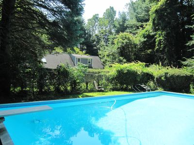 Photo for Private home, 20x40 in ground pool, grill, deck with screen house, pool house.