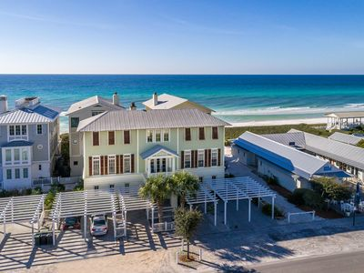 """Photo for """"Seaya"""" in Seaside Proper- 3 Master Suites- GULF SIDE across from the square!"""
