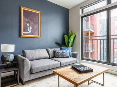 Photo for Roomy Somerville 1BR w/ Gym, Doorman, nr. Assembly Row, by Blueground(BOS229)