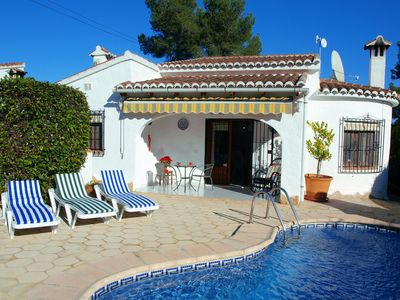 Photo for Quiet Villa with Private and Communal Pools & Tennis. A Few Mins Walk to Beach.