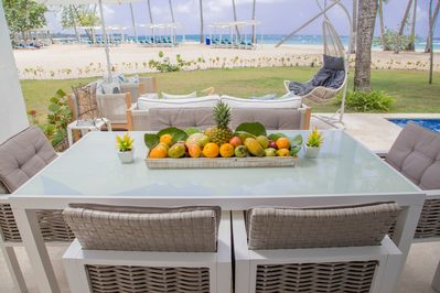 Beachfront Dinning Area