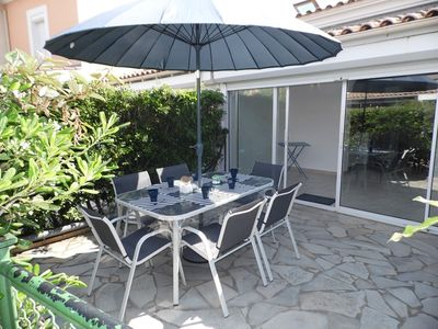 Photo for Nice air-conditioned house sleeps 6 in residence with swimming pool