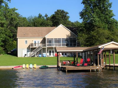 Photo for Gorgeous Lakefront Rental with Natural Sandy Beach 6 Bedroom/3 Bath