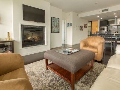 Photo for Pristine Luxury One Bedroom Plus Office , AC, Outdoor Pool, & Parking, 902 sq ft