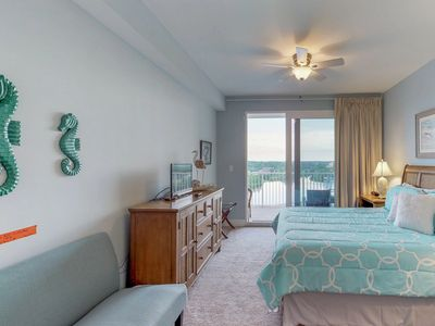 Photo for Beachside getaway with ocean and lake views, huge deck, and 2 king beds