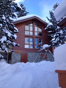 Photo for La Plagne / Les Coches Ski-in / ski-out chalet on the slopes, free wifi and sauna !!