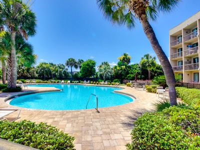 Photo for Chic studio condo with private deck, grill, & shared pool access