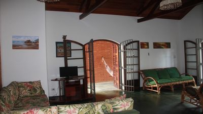 Photo for Cozy beach house, large lounge, airy, barbecue 200m from the beach