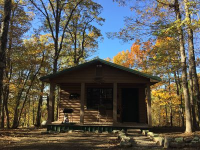 Photo for Beautiful and cozy one bed, one bath cabin nestled in the Kiamichi Mountains