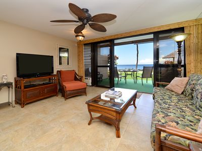 Photo for Ground floor Ocean Front! Swim with Turtles! Free Sunsets! GORGEOUS!