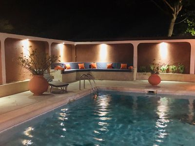 Photo for Beautiful charming villa with pool in a secure residence by the sea