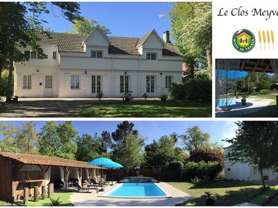 "Photo for Gite 4 ears ""The Clos Meyval"" with heated pool in a park of 2700 m2"