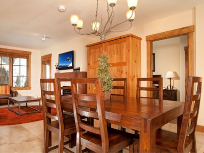 Entertain friends with the large dining table