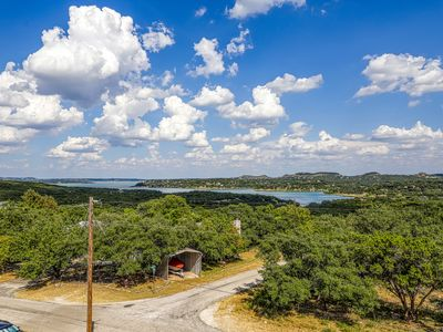 Photo for Lake view home w/ game room & multiple balconies overlooking Canyon Lake!