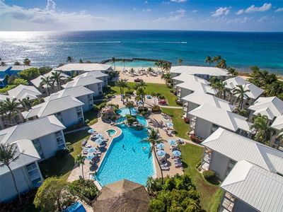 BE WHERE THE CRUISE SHIP CROWDS CAN'T GO!  Oceanfront resort on Seven Mile Beach