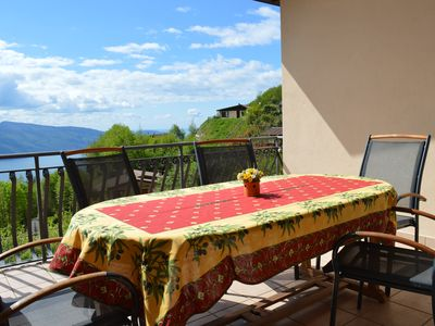 Photo for spacious holiday home with lake view and garden in a quiet location of Tignale on Lake Garda