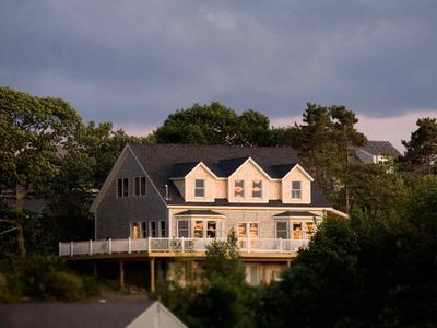 Looking up to the house from Garrison Cove