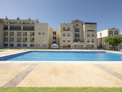 Photo for Wild apartment on the seafront with outdoor pool and tennis court- Pet Friendly by GLOBALSITGES