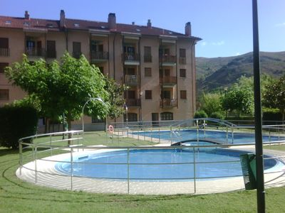 Photo for Apartment in Ezcaray, with pool, garden and next to the river.