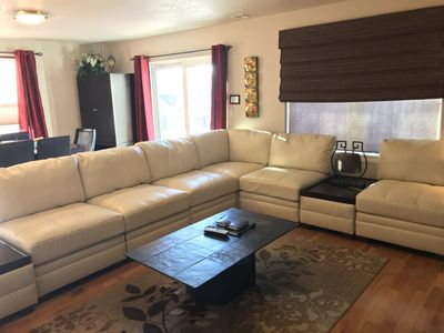 Large, comfortable living room seating