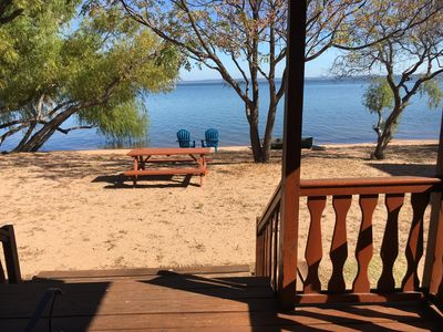 Photo for Lakefront Log Cabin 8 on the Beautiful Shores of Lake Buchanan