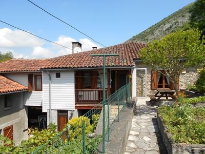 Photo for GÎTE with large fireplace - views of the Pyrenees - Free Wifi