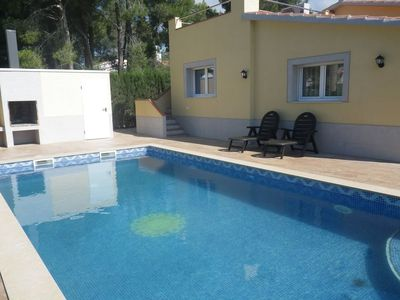 Photo for Detached villa not overlooked 4 bedrooms Private pool Wifi Beach at 1400m