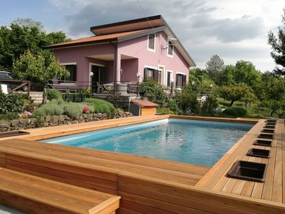Photo for Independent house with private swimming pool inside the natural Park of the Etna