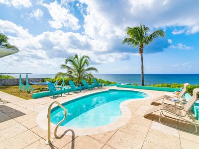 Photo for 3 Bedroom Private Villa - Private OceanFront Pool- Blue Vista by CaymanVacation