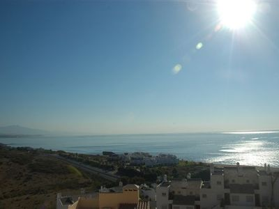 Photo for Spacious apartment with stunning sea views set in wonderful gardens with pool