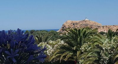 Photo for 100m BEACH AND CENTER  - SEA VIEW - PIETRA ROCK VIEW - HUGE SHADED TERRACE
