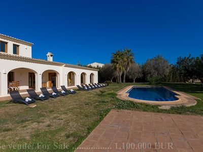 Photo for GRANJA, large villa, for 14 guests in Benissa