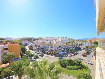 Photo for Lovely two bedroom apartment with WIFI and pool, Estepona centre, eight minute walk to the beach