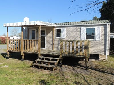 "Photo for Mobile home rental 6-8 people at the campsite ""La Réserve"" **** in Gastes (Landes)"