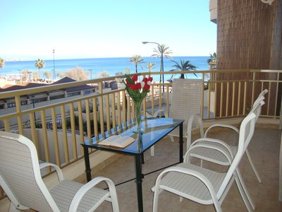Photo for Apartment in Fuengirola seafront. Beachfront.