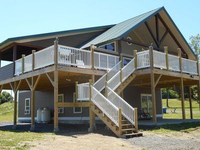 Photo for FALL DISCOUNT SALE-Lakefront, Private, Dock, Bring your Dog, Launch &  Fire Pit