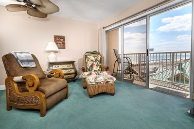 Imagine sitting back and enjoying this view! - Living/family area and the kitchen/dining area both have balcony views.