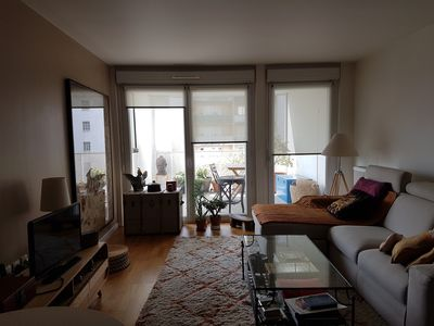 Photo for A bright apartment on the edge of Paris, near metro and flea market