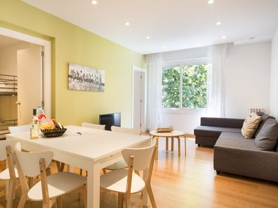 Photo for Colourful 3 Bedroom Apartment in Central Barcelona