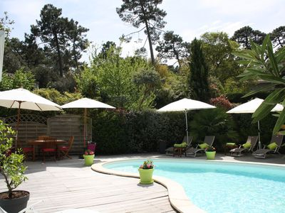 Photo for Pyla Sur Mer: Luxury heated pool villa, 5 bedrooms near the beaches